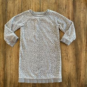 Gap Grey Animal print Velour Dress